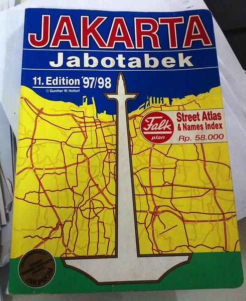 Map Jakarta 1997-1998