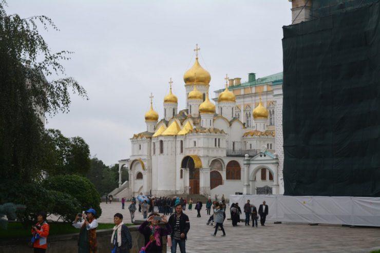 Moskou, Verkondigingskathedraal op het Kremlin, Backpackjunkies