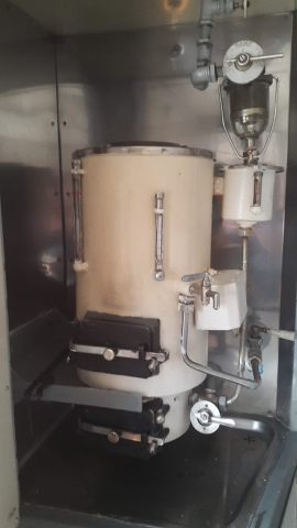Transmongolië Express, Samovar - heet water tap, Backpackjunkies