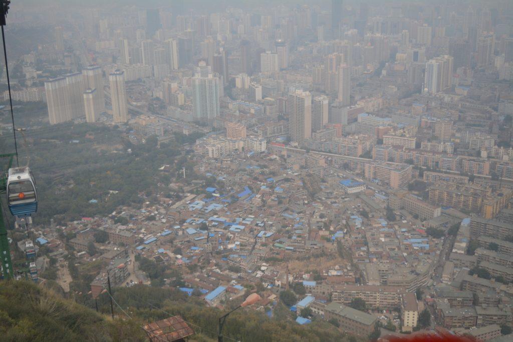 Lanzhou, Five Springs Park, Kabelbaan, Backpackjunkies