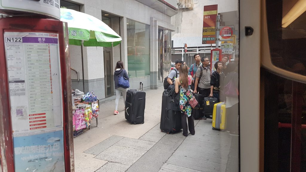 Hong Kong, Airportbus, Backpackjunkies