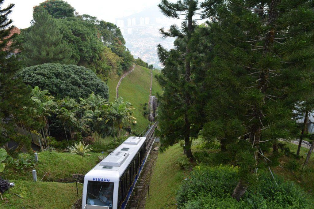 Penang, Penang Hill, funicular trein, kabelbaan, Backpackjunkies