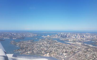 Operahouse vanuit vliegtuig - Australie Sidney - Backpackjunkies